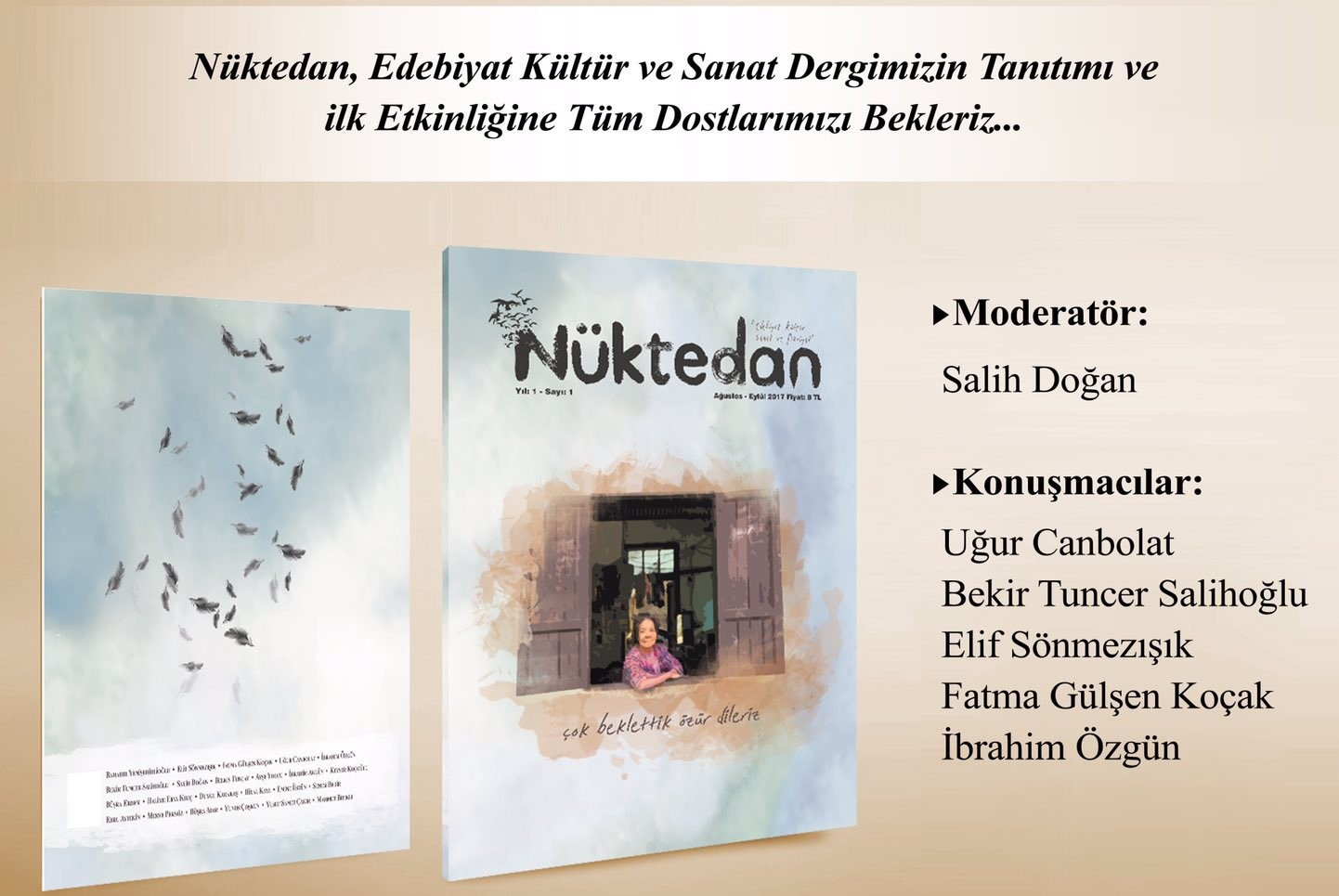 TYB İstanbul'da Nüktedan Dergisinin Tanıtımı Yapılacak
