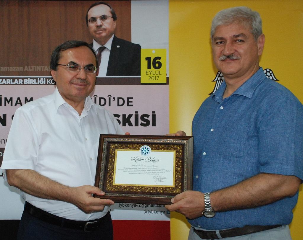 """Konya Şubesi'nde """"İmam-ı Mâtürîdî'de Din Siyaset İlişkisi Konuşuldu"""""""