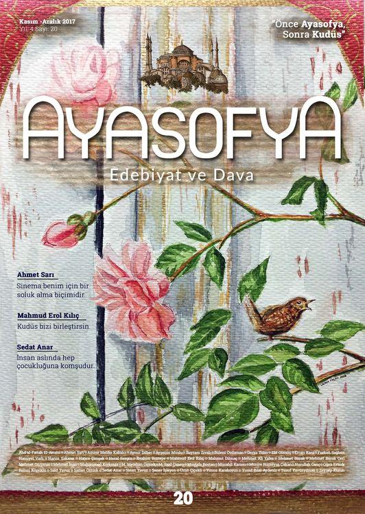 Ayasofya dergisinin 20. sayısı çıktı