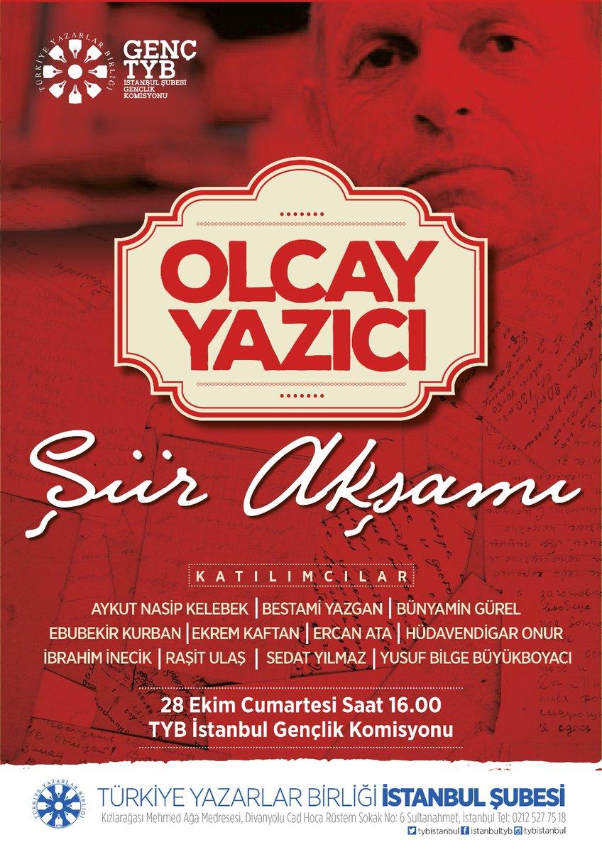 TYB İstanbul'da Olcay Yazıcı İçin Şiir Akşamı