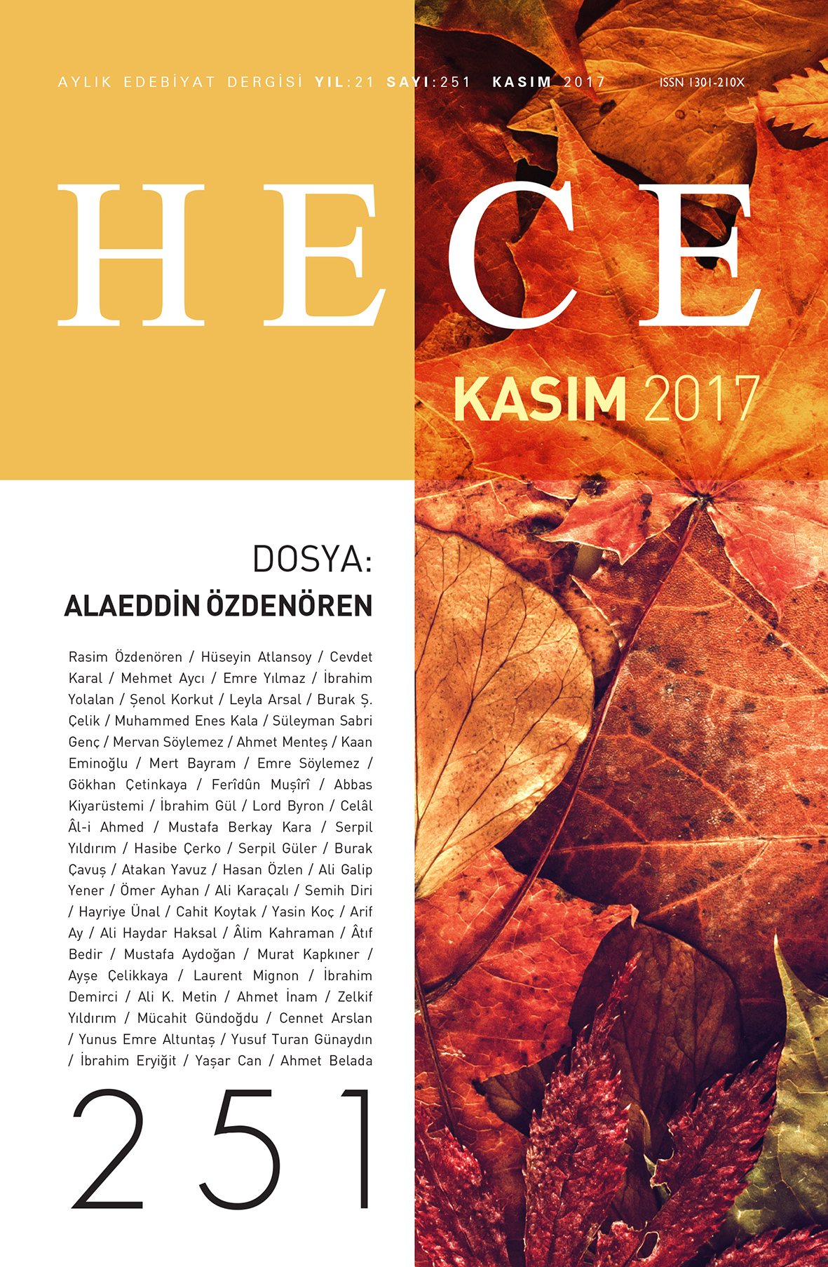 HECE Dergisi Kasım Sayısı Çıktı!