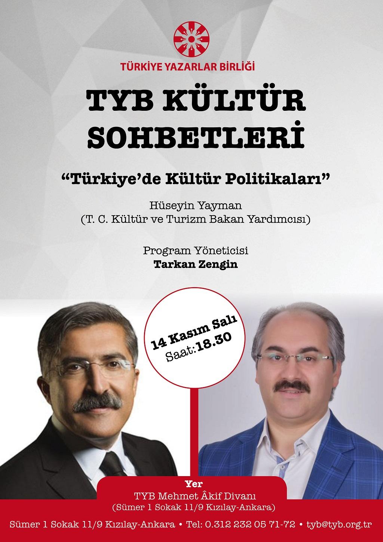 """""""Türkiye'de Kültür Politikaları"""" Bu Akşam 18.30'da"""