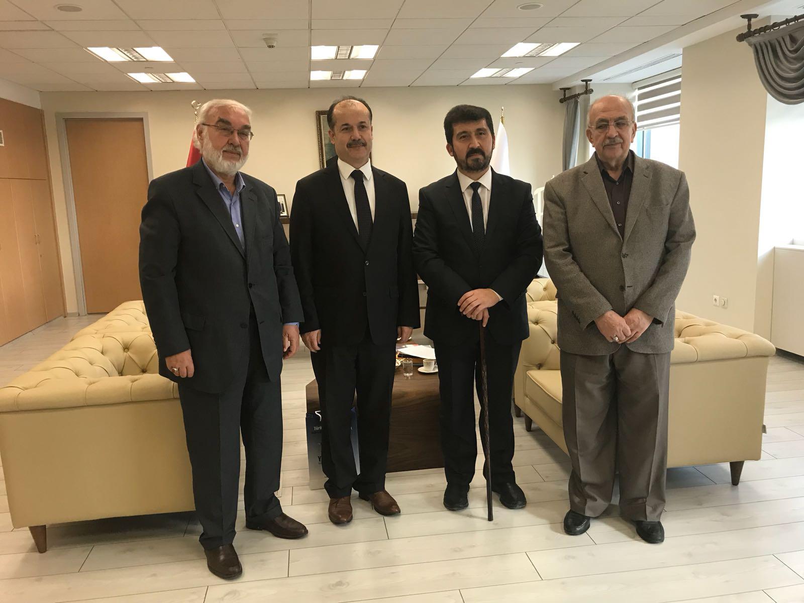 TYB'den Yunus Emre Enstitüsü Başkanı Ateş'i Ziyaret