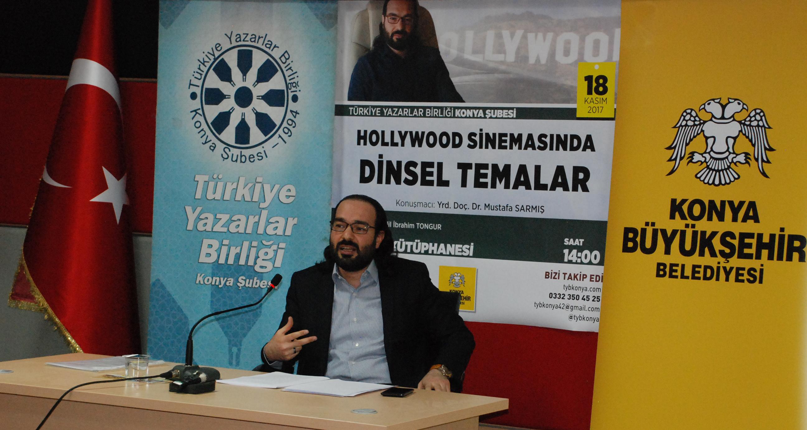 """Konya Şubesi'inde """"Hollywood Sinemasında Dinsel Temalar"""" Konuşuldu"""