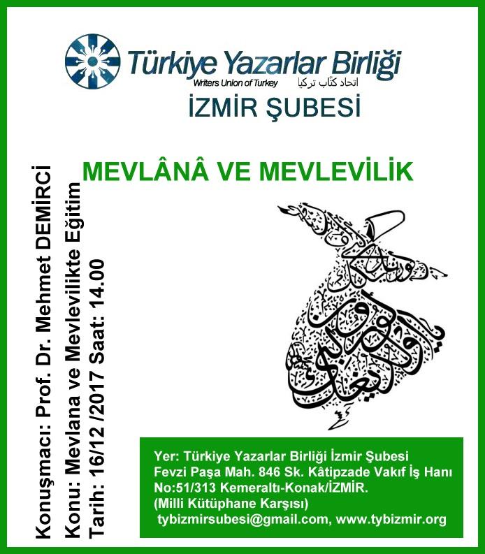 İzmir Şubesinde Mevlana ve Mevlevilik Programı
