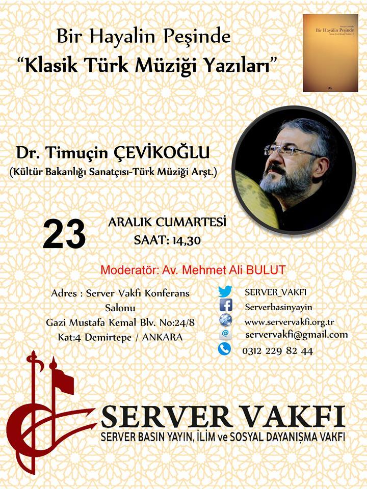 """Bir Hayalin Peşinde """"Klasik Türk Müziği Yazıları"""""""
