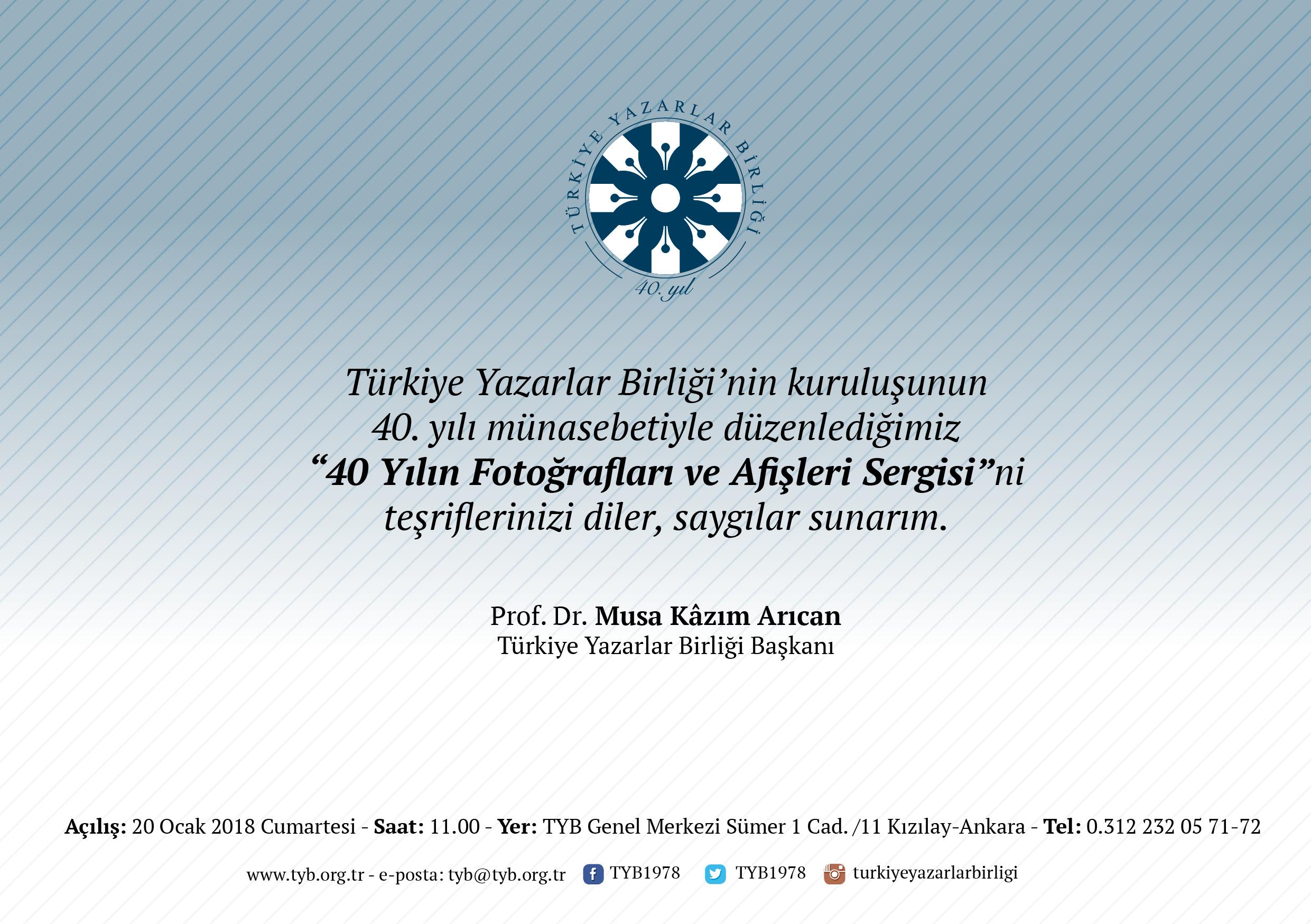 Türkiye Yazarlar Birliği'nden 40 yılın fotoğrafları ve afişleri sergisi
