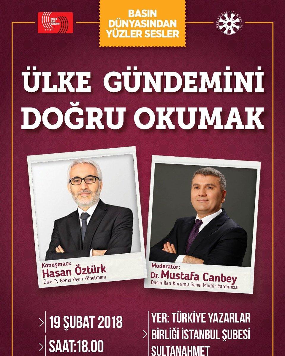 Hasan Öztürk TYB İstanbul'da Konuşacak