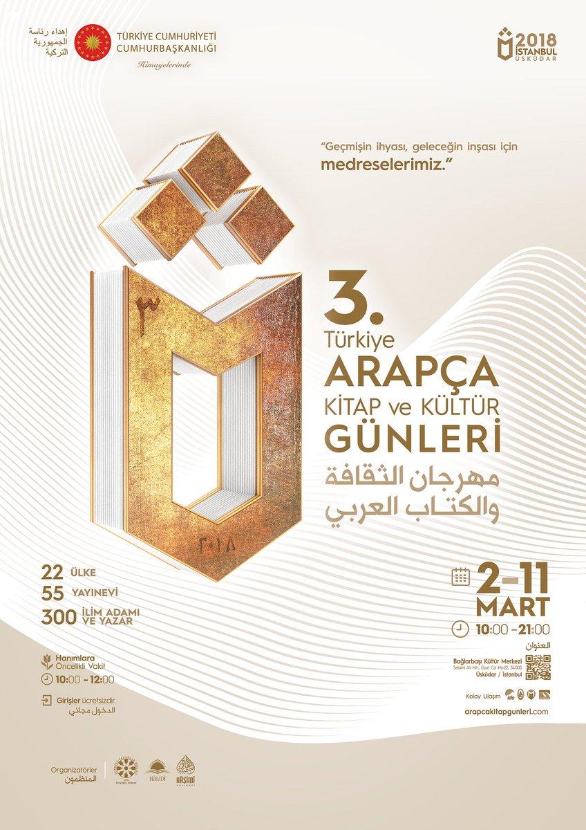 Üçüncü Türkiye Arapça Kitap ve Kültür Günleri Başlıyor