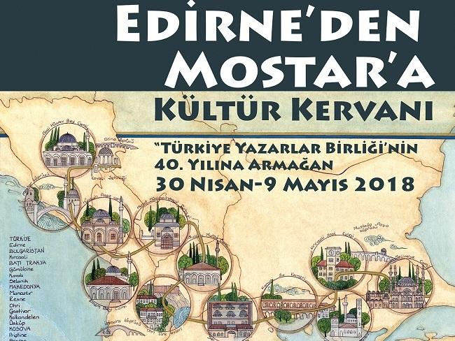 TYB'nin kültür kervanı Edirne'den yola çıkıyor