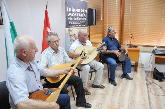 """""""Edirne'den Mostar'a Kültür Kervanı"""" Kırcaali'de"""