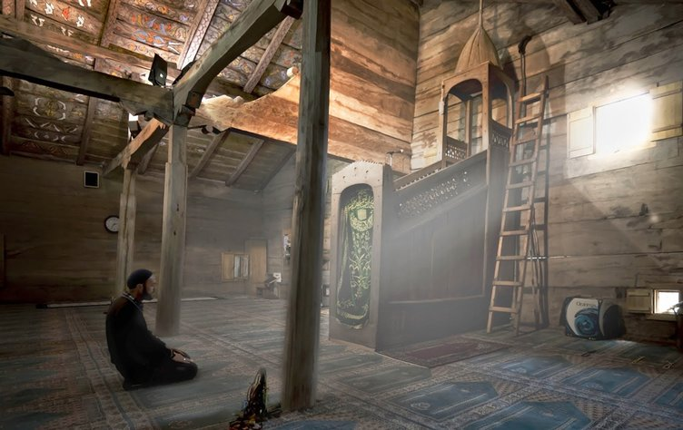 Beton yapılara kafa tutan çivisiz ahşap camiler