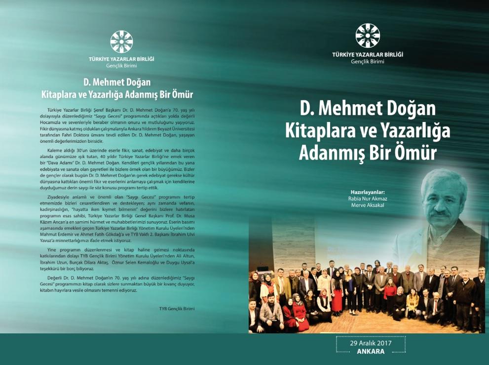 D. Mehmet Doğan: Kitaplara ve Yazarlığa Adanmış Bir Ömür