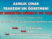 Ahmet Nurettin Gürsoy 95 Yaşında