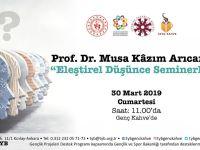 """Prof. Dr. Musa Kazım Arıcan ile """"Eleştirel Düşünce Seminerleri"""" Genç Kahve'de Başlıyor!"""