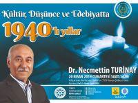 Yazar Dr. Necmettin Turinay Konya Şubesinin konuğu olacak