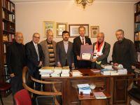 Türkmen Kültür Bürosu Başkanı Terzi D. Mehmet Doğan'a Hizmet Beratı Verdi