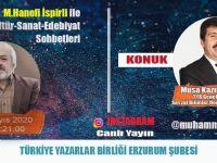 """Genel Başkan Arıcan """"Kültür-Sanat ve Edebiyatı"""" Anlatacak"""