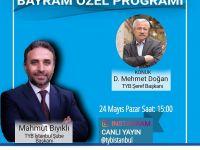 D. Mehmet Doğan, TYB İstanbul Şubesi'ne konuk olacak