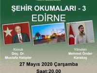"""Doç. Dr. Mustafa Hatipler """"Şehir Okumaları""""na konuk olacak"""