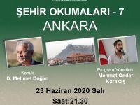 """D. Mehmet Doğan: """"Şehir Okumaları""""na konuk olacak"""