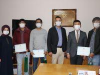 Türkçe Öğrenen Yabancı Uyruklu Öğrencilere Katılım Belgeleri verildi