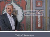D. Mehmet Doğan, Anadolu Mektebi Akademisi'nde konuşacak