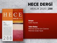 HECE Aralık 2020, sayı 288 çıktı