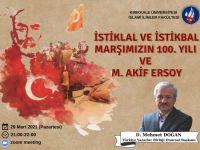 """""""İstiklâl ve İstikbal Marşımızın 100. Yılı ve Mehmet Âkif Ersoy"""""""