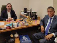 Sultan Rayev'den Mahmut Bıyıklı'ya Ziyaret