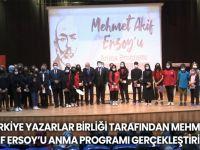 Türkiye Yazarlar Birliği Tarafından Mehmet Akif Ersoy'u Anma Programı Gerçekleştirildi