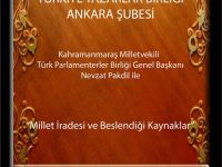 """TYB Ankara Sohbetlerinde bugün: Nevzat Pakdil ile """"Millet İradesi ve Beslendiği Kaynaklar"""""""