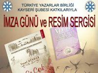 TYB Kayseri Şubesi'nde İmza Günü ve Resim Sergisi