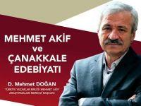 """D. Mehmet Doğan """"Mehmet Âkif ve Çanakkale edebiyatı""""nı anlatacak"""