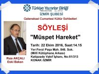 TYB İzmir'de bu hafta: Rıza Akçalı ile Müspet Hareket