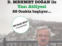 D. Mehmet Doğan ile yazı atölyesi başlıyor!
