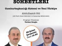 TYB Kültür Sohbetlerinin konuğu: AK Parti Genel Sekreteri Abdulhamit Gül