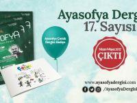 Ayasofya Dergisi Nisan-Mayıs Çıktı!
