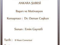 """Dr. Osman Coşkun ile """"Başarı ve Motivasyon"""" Bugün 13.30'da"""