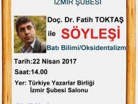 İzmir Şubesi: Doç. Dr. Fatih Toktaş ile Batı Bilimi/Oksidentalizm