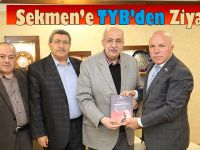 Türkiye Yazarlar Birliği'nden Başkan Sekmen'e ziyaret