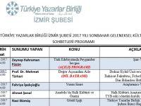 İzmir Şubesi 2017 Yılı Sonbahar Geleneksel Kültür Sohbetleri Programı