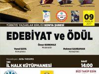 Konya Şubesinde ''Edebiyat ve Ödül'' Söyleşisi