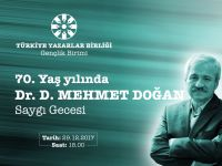 Genç TYB'den Dr. D. Mehmet Doğan'a Saygı Gecesi