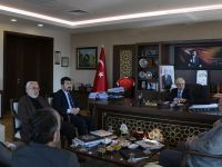 TYB Heyeti Müsteşar Mustafa Öztürk'ü Ziyaret Etti