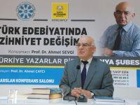 """Konya Şubesinde """"Türk Edebiyatında  Zihniyet Değişimi"""" Konuşuldu"""
