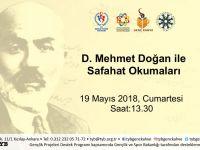 D. Mehmet Doğan ile Safahat Okumaları Bugün 13.30'da