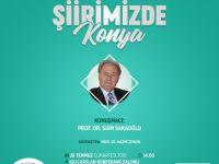 """Konya Şubesinde """"Şiirimizde Konya"""" söyleşisi"""
