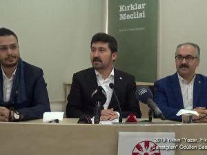"""2019 Yılının """"Yazar, Fikir Adamı ve Sanatçıları"""" Ödülleri Basın Toplantısı"""